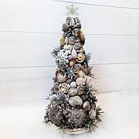 Новогодняя елка в эко-стиле из природных материалов Подарки ручной работы на новый год