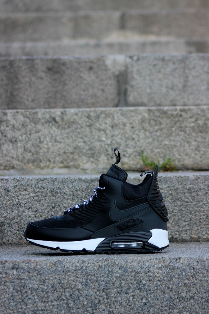 71a8793d Мужские зимние кроссовки Nike Air Max 90 Sneakerboot Black/White (в стиле  Найк Аир