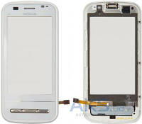 Сенсор (тачскрин) для Nokia C6-00 with frame Original White