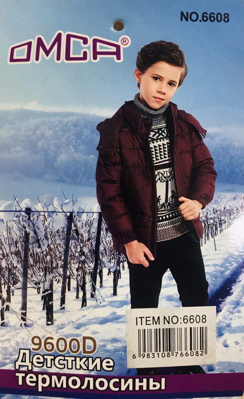 Детские лосины термо на меху ОМСА 9600 den 6608