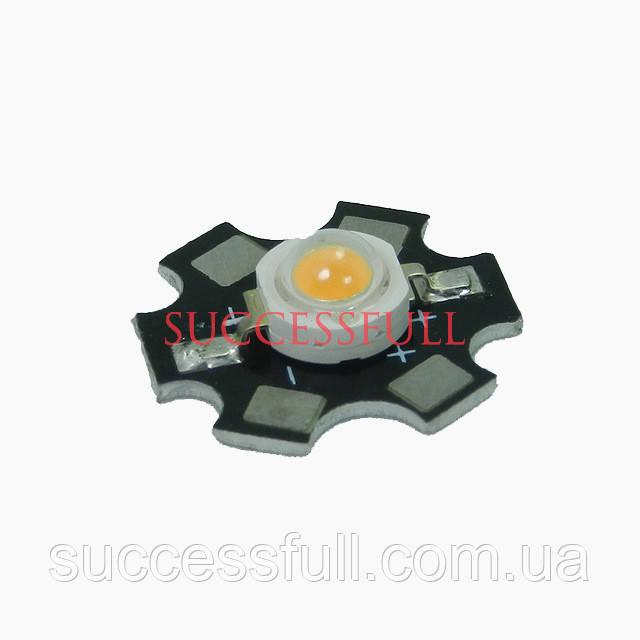 Мощный полноспектральный фито светодиод ( 380-840nm 3W )