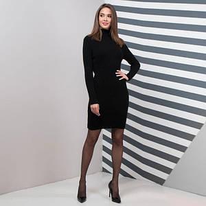 Теплое женское платье для офиса Basic черный