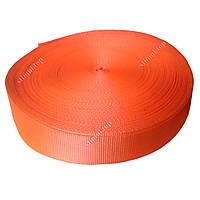 Лента буксирная полиэстеровая 75 мм х 10 т х 50 метров (тесьма буксировочная капроновая)