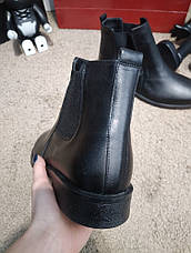 Мужские ботинки Zara Classic Leather Boots Black, фото 3