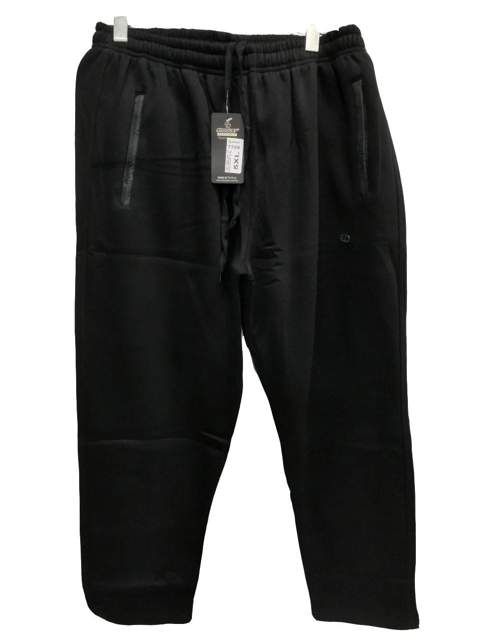 Брюки теплые Shooter батал 7709 зимние мужские спортивные штаны Шутер большого размера Черный
