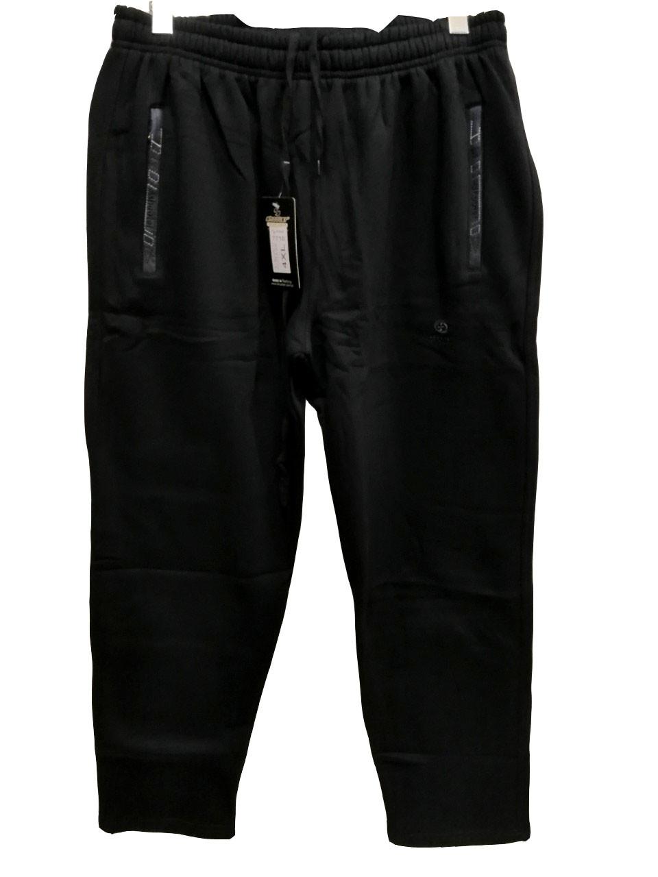 Брюки теплые Shooter батал 7710 зимние мужские спортивные штаны Шутер большого размера Черный