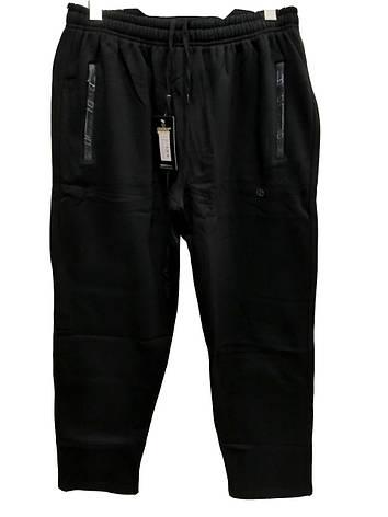 Брюки теплые Shooter батал 7710 зимние мужские спортивные штаны Шутер большого размера Черный, фото 2
