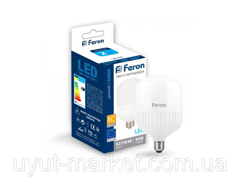 Светодиодная лампа 30Вт E27-E40 6400K, фото 1