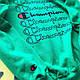 Толстовка с принтом Champion зеленная  (реплика), фото 4