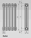 Чавунний радіатор класика Viadrus Kalor 350/160, фото 3