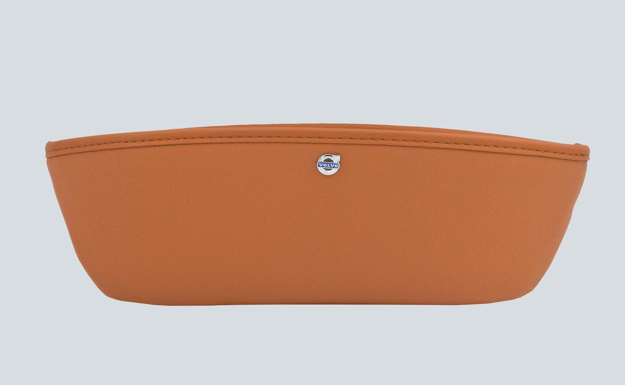 Автомобильный карман-органайзер Type-1 Brown логотипом Volvo пинал для автомобиля подарок