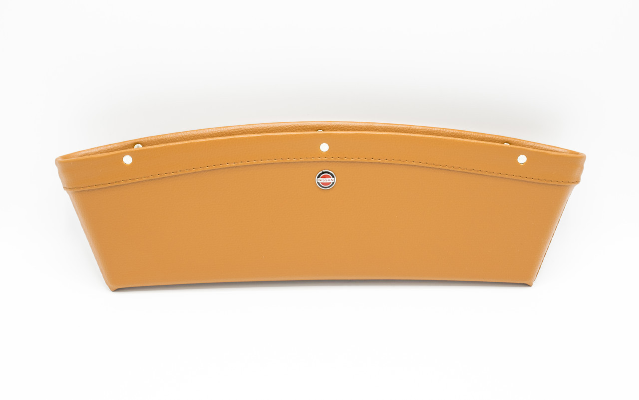 Автомобильный карман-органайзер Type-2 Brown с логотипом Nissan пинал для автомобиля подарок