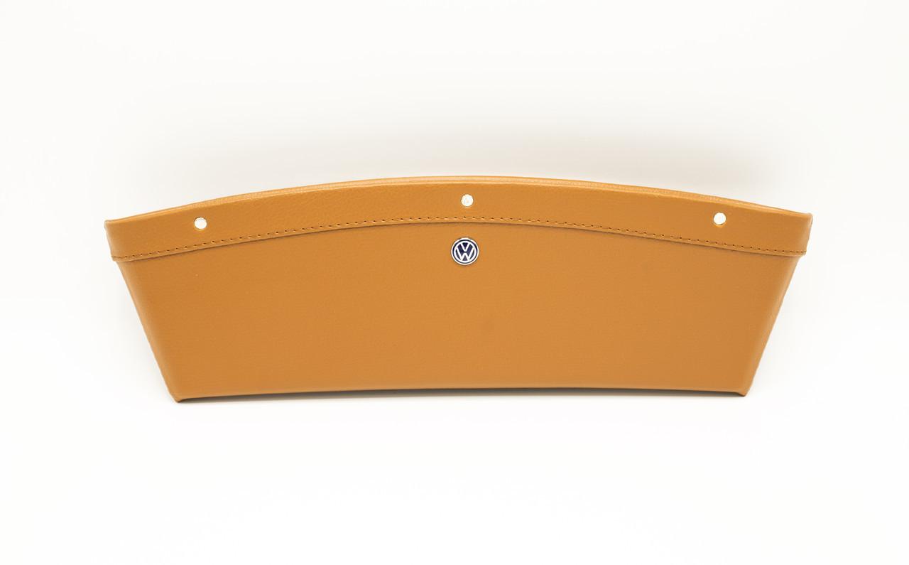 Автомобильный карман-органайзер Type-2 Brown с логотипом Volkswagen пинал для автомобиля подарок