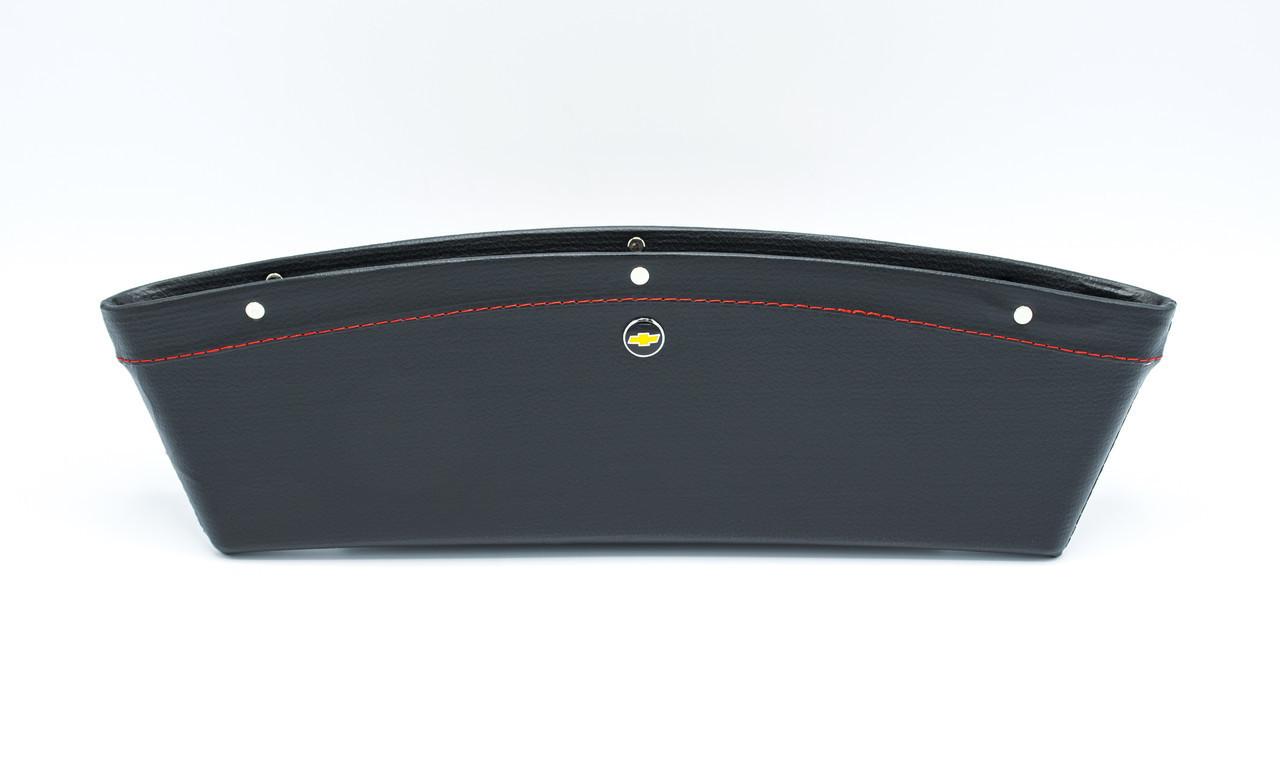 Автомобильный карман-органайзер Type-2 Black с логотипом Chevrolet пинал для автомобиля подарок