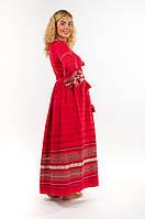 Сукня червона довга жіноча. Ручна робота. Вишиванка