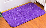 Плюшевый коврик «Галька» фиолетовый 50×80 см, фото 3