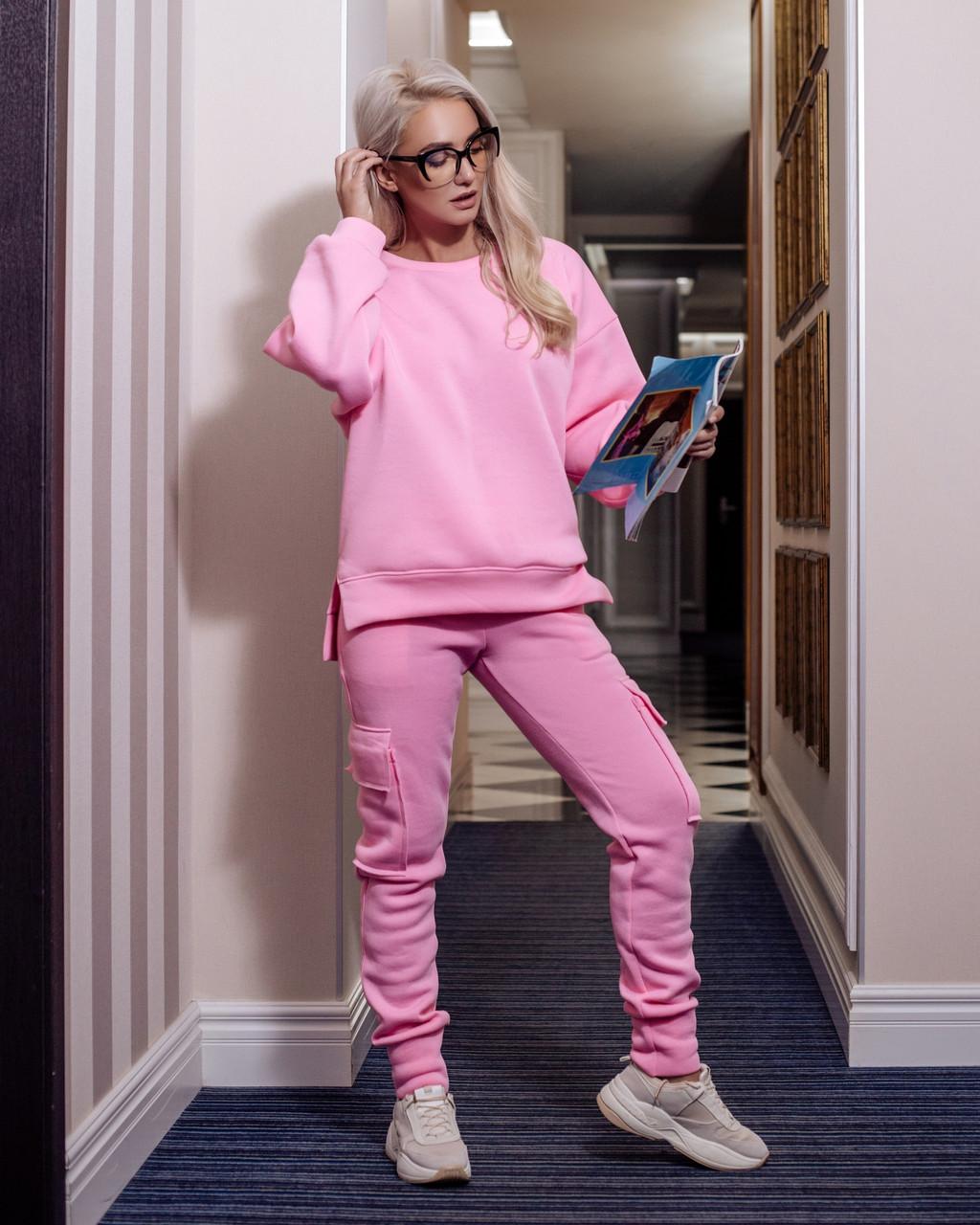 86293c42 Спортивный женский костюм из трехнитки на флисе 2005539 - Интернет-магазин  одежды