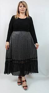 Турецкое серебристое женское платье миди