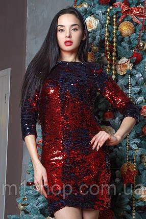 Женское короткое платье из пайеток (Эми mrb), фото 2