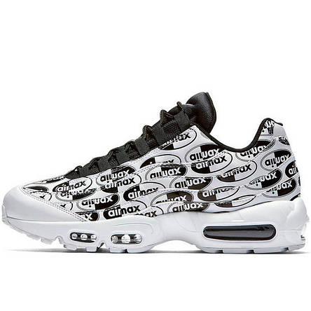 38c2f6a9 Кроссовки мужские Nike Air Max 95 Just Do it Pack (белые) Top replic ...