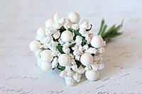 Добавка с шариками 10-12 шт/уп. белого цвета, фото 1
