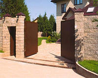 Автоматические распашные ворота, фото 1