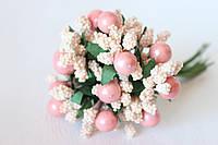 Добавка с шариками 10-12 шт/уп. розового цвета с персиковым оттенком., фото 1