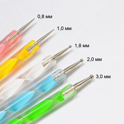 Дотс 5 штук разноцветные рисунок 1