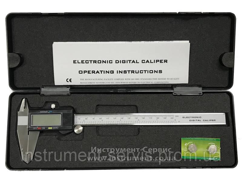 Штангенциркуль электронный ШЦЦ-I-200 0,01 большой дисплей (132-325A)
