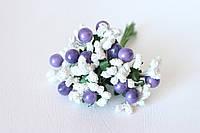Добавка с шариками 10-12 шт/уп. бело-фиолетового цвета, фото 1