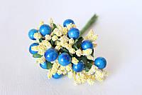 Добавка с шариками 10-12 шт/уп. сине-желтого цвета, фото 1