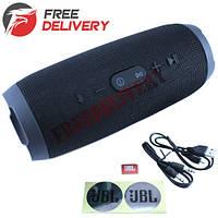 Колонка портативная Bluetooth Charge 3, MicroSD, реплика JBL, черная