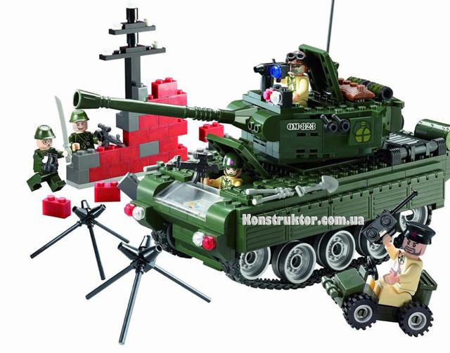 Конструктор Brick 823 «Военный танк» купить