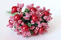 Добавка с шариками 6 шт/уп. красного цвета, фото 1