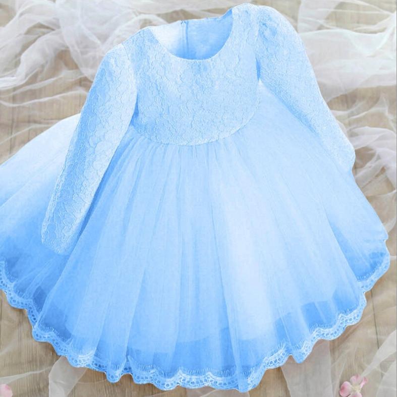 Платье нарядное детское  на девочку с бантом голубое