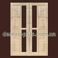 Двері з масиву дерева 70см (під скло) s_02703х2