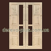 Двери из массива дерева 70см (под стекло) s_02703х2