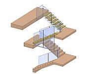 Лестница на центральном косоуре