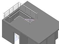 Лестница консольного типа с ограждением, фото 1
