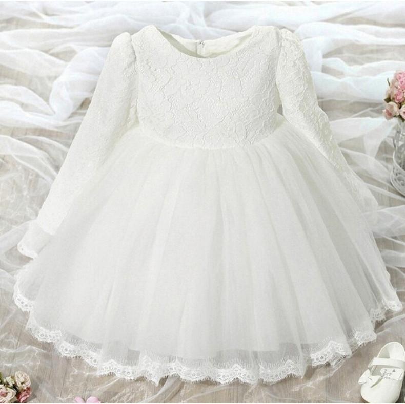 Платье нарядное детское  на девочку с бантом белое