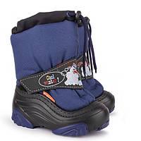 Детские сапоги, дутики Demar Snowmen темно-синий 28-29