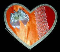 """Сердце для свадебных денег """"Оранжевая мечта"""""""