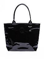 Черная лаковая сумка POOLPARTY