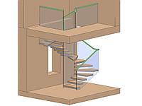 Скляне огородження сходів та майданчики, фото 1