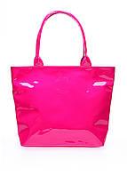 Розовая лаковая сумка POOLPARTY