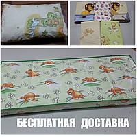 Матрас детский+постельное бельё+подушка.
