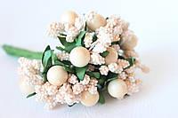 Добавка с шариками 6 шт/уп. кремово-персикового цвета, фото 1