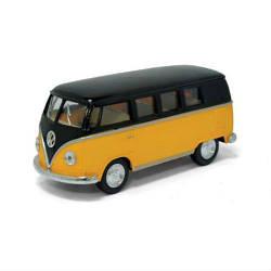 """Машинка KINSMART """"Volkswagen T2 BUS"""" (желтая)"""
