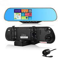 Відеореєстратор дзеркало DVR A23 на 2 камери, відеореєстратор з двома камерами