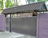 Откатные ворота с калиткой, фото 1
